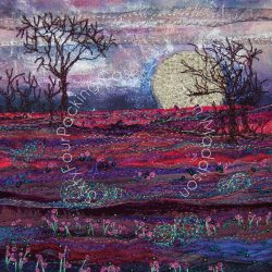 'Across the Lavender Field' - original sold - print - card