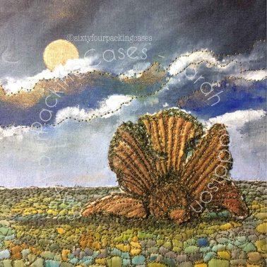 'Aldeburgh Beach' - original sold - card