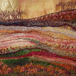 'Autumn Landscape' - original sold - card
