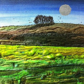 'Avebury Fields' - original sold - print - card