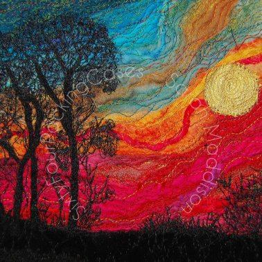 'Danebury Sunset - original sold - print - card