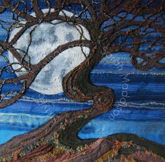 The Supermoon threw light upon the Faerie Tree' - original sold - card