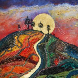 'Follow the Golden Path to find your Sunshine' - original sold - print - card