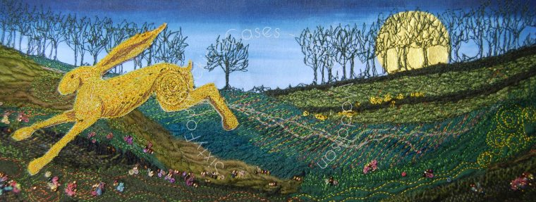 'Golden Hare Running' - original sold