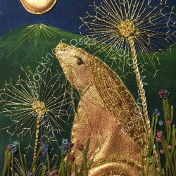 'Golden Moongazer' - original sold - card