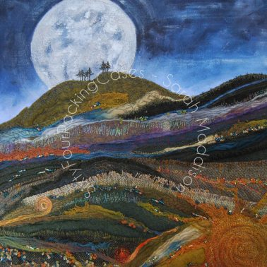 'Only the Moon' - original sold - card