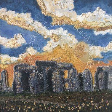 'Summer at Stonehenge' - original sold - card